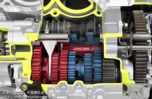图解 本田的大排量摩托车运动双离合器变速箱